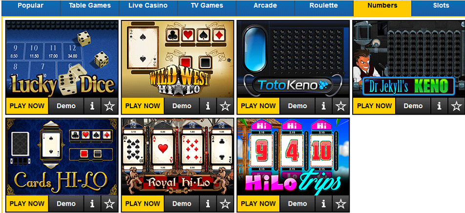 BETIN CASINO NUMBERS GAMES | KenyanBets