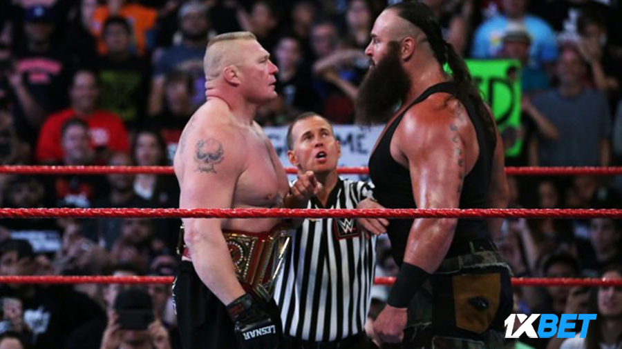 Brock Lesnar Braun Strowman wwe