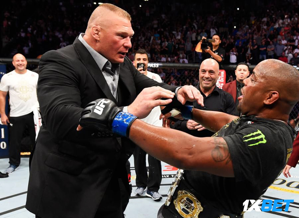 Lesnar challenges Daniel Cormier to a heavyweight wrestling match