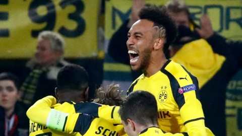 Aubameyang makes history with maiden Champions League hat-trick