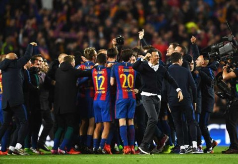 After a sensational late win over PSG to reach the Champions League quarter-finals, Barcelona's Ivan Rakitic was reminded of Super Bowl LI