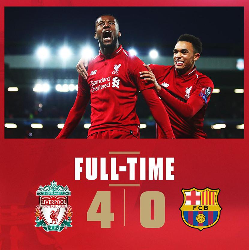 Liverpool Fc 4 0 Barcelona International Champions Cup: Liverpool In The Champions League Final In The Premier