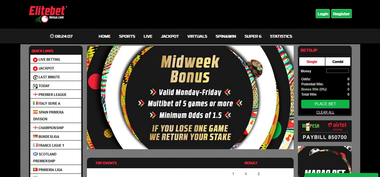 Elite kenya betting turf paradise live betting plus