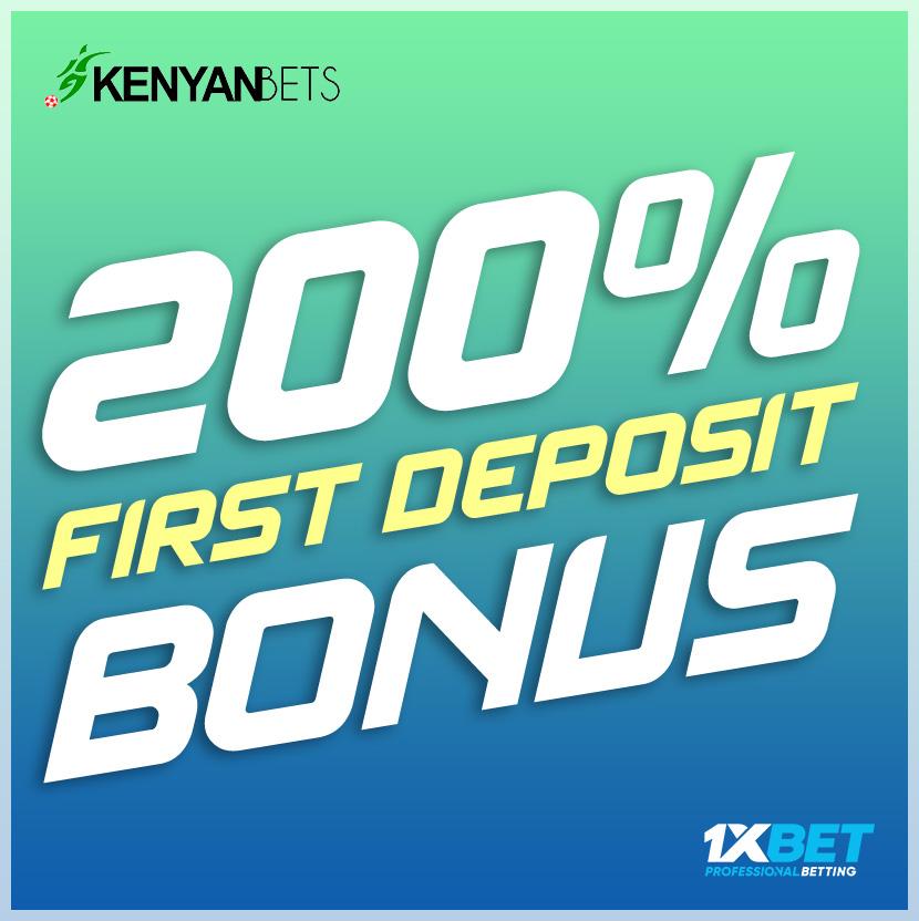 1XBet Kenya 1st deposit bonus