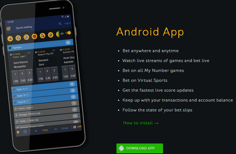Mozzartbet Mobile Application