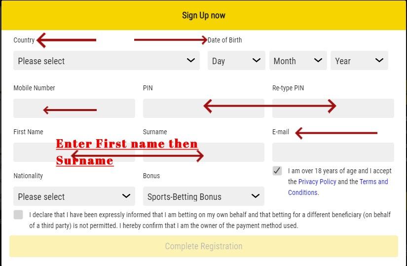 eazibet mobile registration
