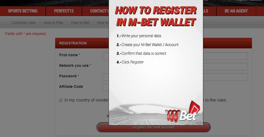 mbet registration