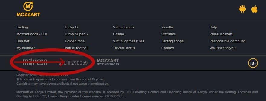 mozzartbet paybill
