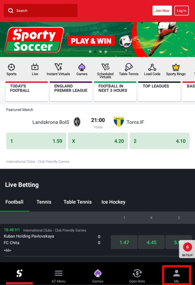 sportybet account
