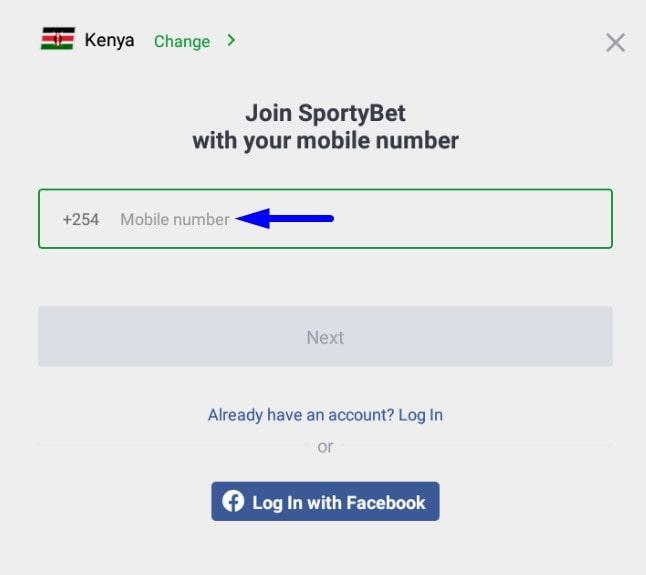 sportybet login app