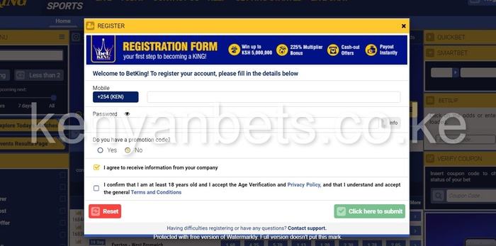betking register